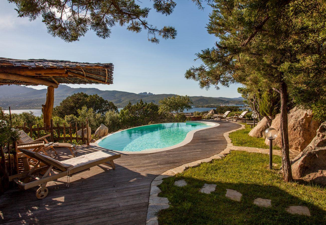 Villa in Porto Rotondo - Villa Sa Jaga: infinity pool facing sunset in Porto Rotondo   Klodge